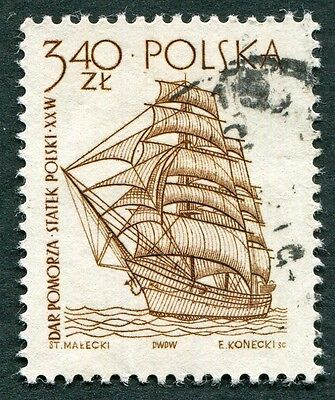 POLAND 1964-5 3z40 SG1466 used NG Sailing Ships 2nd series Dar Pomorza d #W27
