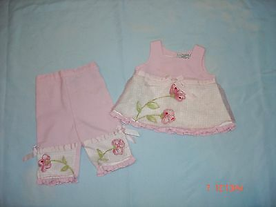 Youngland Baby Girls Size 12M Pink Top And Capris Spring/summer Set