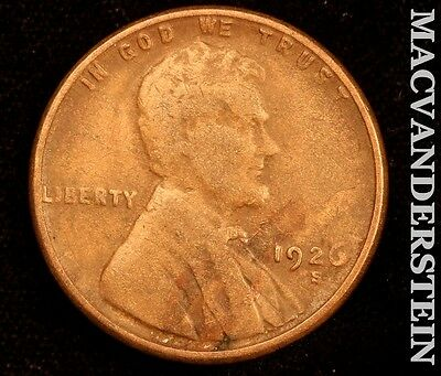 1926-S Lincoln Wheat Cent- Semi Key !! Better Date !! #r3780