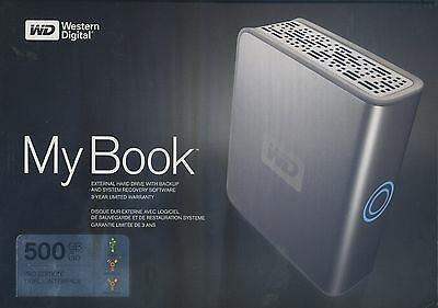 NEW Western Digital My Book External Hard Drive with Backup 500 GB Pro Edition