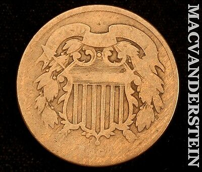 1864 Shield Two Cent- Scarce !! Better Date !! #t2289