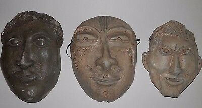 Three OLD antique Akron Ohio area Fine Arts and Crafts Art Pottery SCULPTURE S