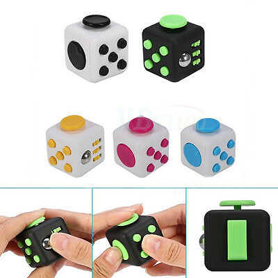 Fidget Cube Anti Anxiety Stress Relief Cubes Adults Focus Kids Toys Relax CO