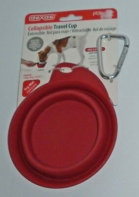 Dexas Popware Pets Collapsible Travel Cup Dog Cat Water Bowl Expand