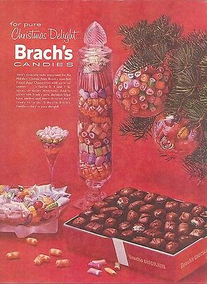 Pure Christmas Delight Brach's Candies ad 1957