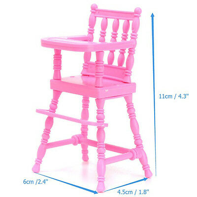 Lovely Pink High Chair For Barbie Kelly Doll's House Furniture Toy Gift