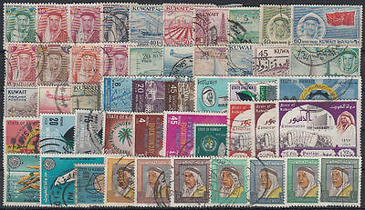 Kuwait Selection of 200 diff. postally used stamps Collection/Sammlung [st3434]