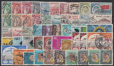 Kuwait Selection of 200 diff. postally used stamps Collection/Sammlung [st3438]