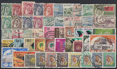 Kuwait Selection of 200 diff. postally used stamps Collection/Sammlung [st3442]