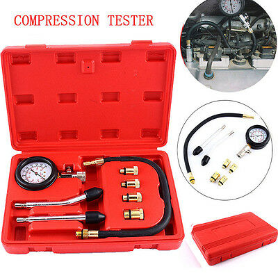 Portable Automotive Petrol Engine Compression Tester Tool Set With Connectors Uk