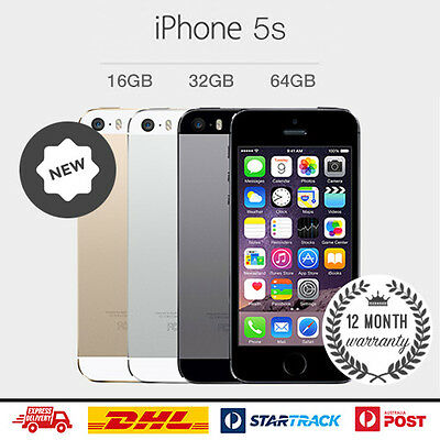 New Apple iPhone 5s 16GB 32GB 64GB Gold Silver Space Grey Factory Unlocked