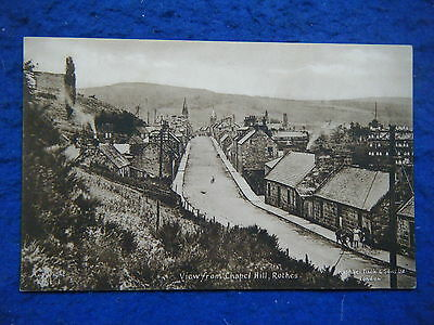 Rothes: View From Chapel Hill - Scarce Tuck Real Photo Postcard!