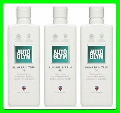 * Pack of 3 * Autoglym Bumper & Trim Gel [BC325ML] Revives Protects and Cleans