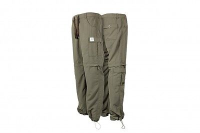 Nash Tackle NEW Carp Fishing Green Lite Zip Off Combat Trousers Reg *All Sizes*