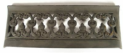 Antique Art Nouveau Cast Iron Favorite Fire Place Hearth Surround Door Fender