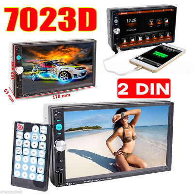 7'' HD 2DIN Car Voiture Stéréo MP5 Player Bluetooth Autoradio AUX-IN USB/TF FR