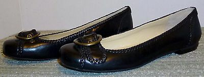 New Ralph Lauren Black Leather Flats Size 6.5 M! Wonderful Deal! Must See!