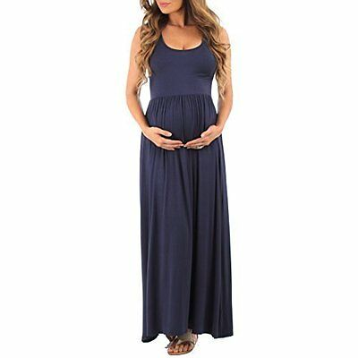 Mother Bee Women's Ruched Sleeveless Maternity Dress - Navy - Size: Small