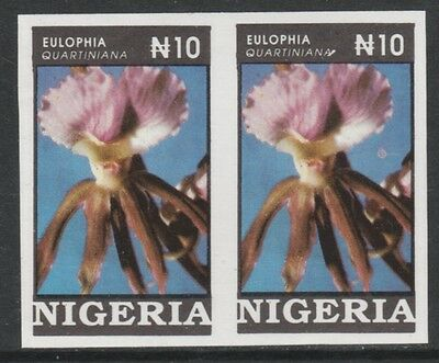 Nigeria 3882 - 1993  ORCHIDS 10n IMPERF PAIR unmounted mint