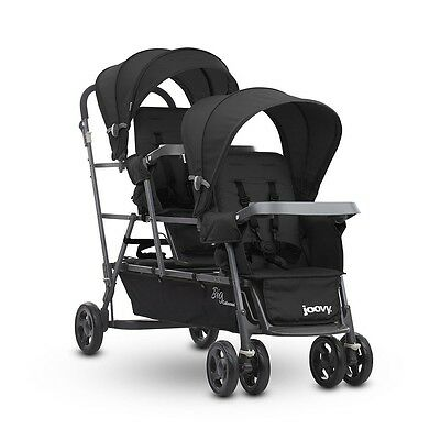 Joovy Big Caboose Graphite Stand-on Triple Stroller - Black