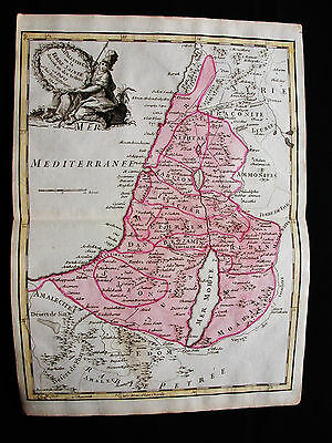 1748 LE ROUGE - rare map: ASIA MINOR, MIDDLE EAST, ISRAEL SYRIA PALESTINE JORDAN