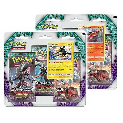 Pokemon TCG Sun & Moon Guardians Rising Triple Pack Booster - Brand New!