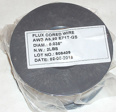 4lbs Flux Core E71T-GS Gasless Welding Wire .035 Diameter (2) 2lb Rolls