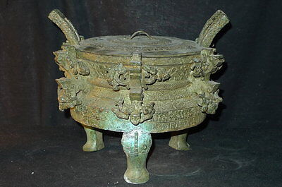 - Museum quality chinese Warring States bronze Ding
