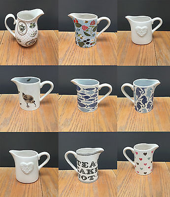 Gisela Graham Kitchen Ceramic Milk Jugs Creamer Jug Table Decoration Gift