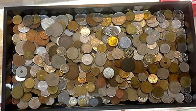 5Lb. ~ World Foreign Coin Mixed Lot ~ Mixed Grade ~ (No Canada Small Cents)
