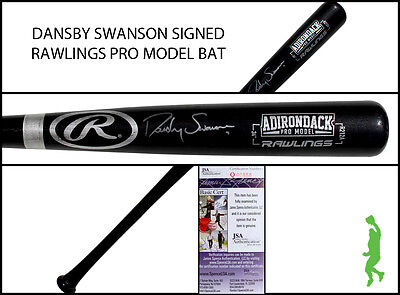 Dansby Swanson Autographed Signed Rawlings Pro Model Baseball Bat Braves Jsa Coa