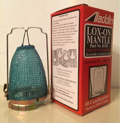R150 MANTLE LOX-ON Aladdin Oil Lamps for 12,14,A,B,C,21,21C,23, 23a, MaxBrite500