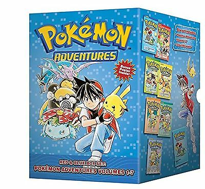 Pokmon Adventures Red & Blue Box Set: Set includes Vol. 1-7 (Pokemon) NEW BOOK