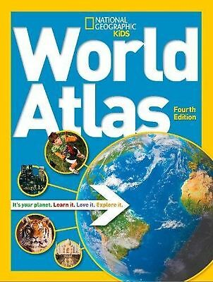 World Atlas 4th edition (National Geographic Kids) NEW BOOK