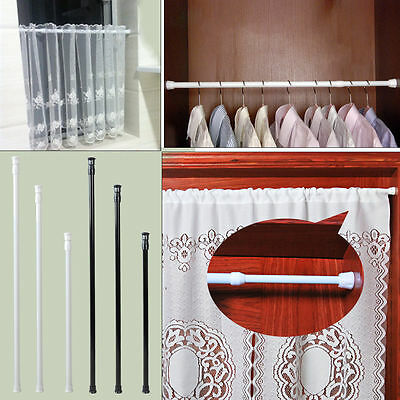 Adjustable High Carbon Steel Rod Tension Bathroom Curtain Extensible Rod Hanger*