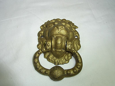 Vintage German Cast Iron Door Knocker Lion Head #AD