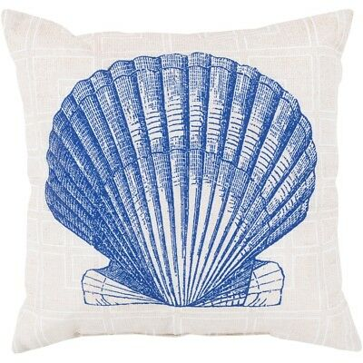 "Rain by Surya Shell Sketch Pillow, Violet/Beige/White, 18"" x 18"" - RG151-1818"