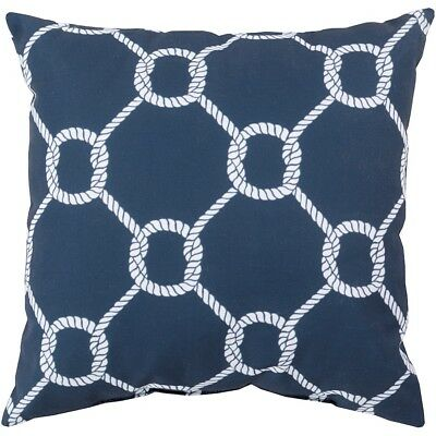 "Rain by Surya Knots Poly Fill Pillow, Navy/Ivory, 18"" x 18"" - RG146-1818"