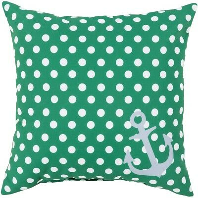 "Rain by Surya Pillow, Grass Green/Ivory/Lt.Gray, 18"" x 18"" - RG122-1818"