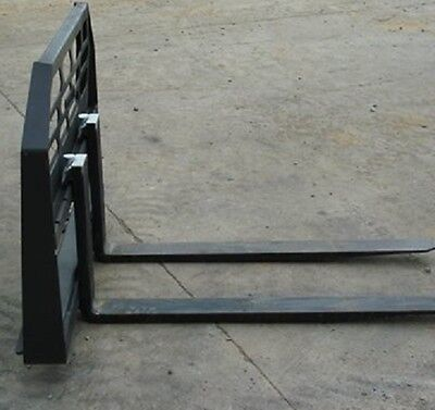 "New SKID STEER LOADER, TRACTOR 48"" HD PALLET FORKS, bobcat case CAT,1-1/2"" THICK"