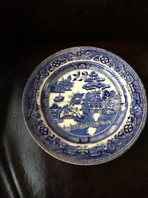 Very Old Oriental Blue And White Porcelain Plate Chinese