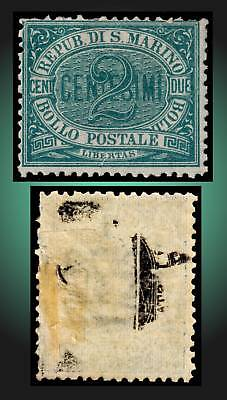 1877 San Marino Numeral First Issue Mint Partial Gum Sct. 1 Michel 1