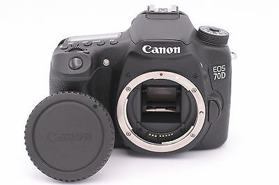 Canon EOS 70D 20.2MP Digital SLR Camera - Black (Body Only) - Shutter Count: 122