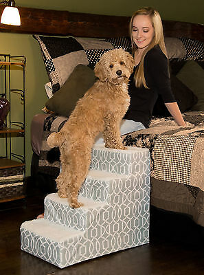 Pet Gear *NEW* Easy Pet Step III & IV Dog Cat Stairs/Ramp, Trellis Print
