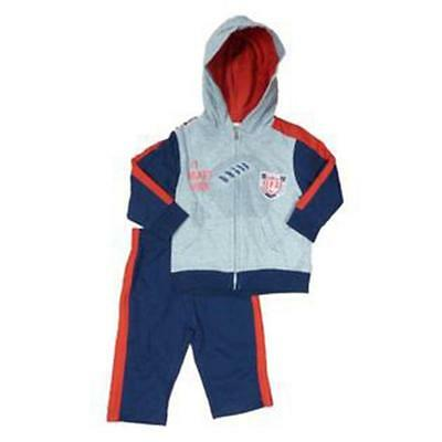 Kids Headquarters Toddler Boys 2pc Hooded Top Whit Pants Set Size 2T