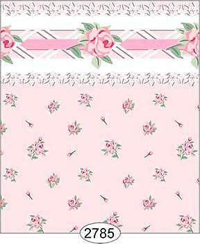 Miniature Dollhouse 1:12 Scale Wallpaper Daniella Floral Toss Pink 2785