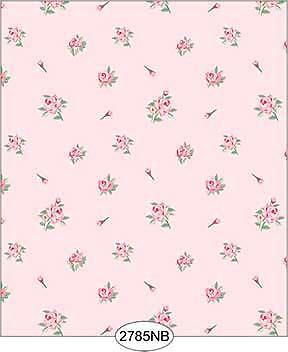Miniature Dollhouse 1:12 Scale Wallpaper Daniella Floral Toss Pink 2785Nb