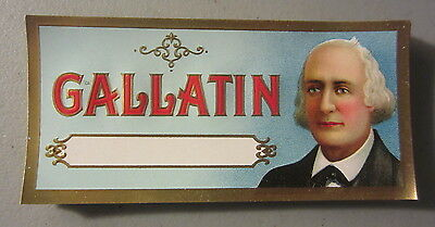 Lot of 50 Original Old Antique - GALLATIN - CIGAR End LABELS