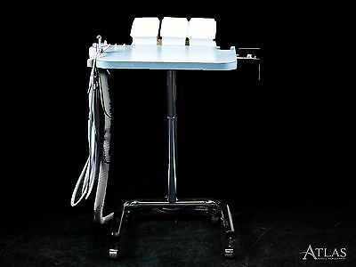 Aseptico Dental Assistant Portable Delivery Cart w/ HVE, SE, & Air-Water Syringe