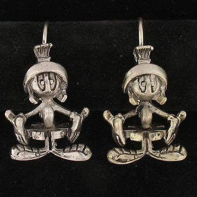 EARRINGS Marvin The Martian WARNER BROS LOONEY TUNES Silver WB STORE 4088 A